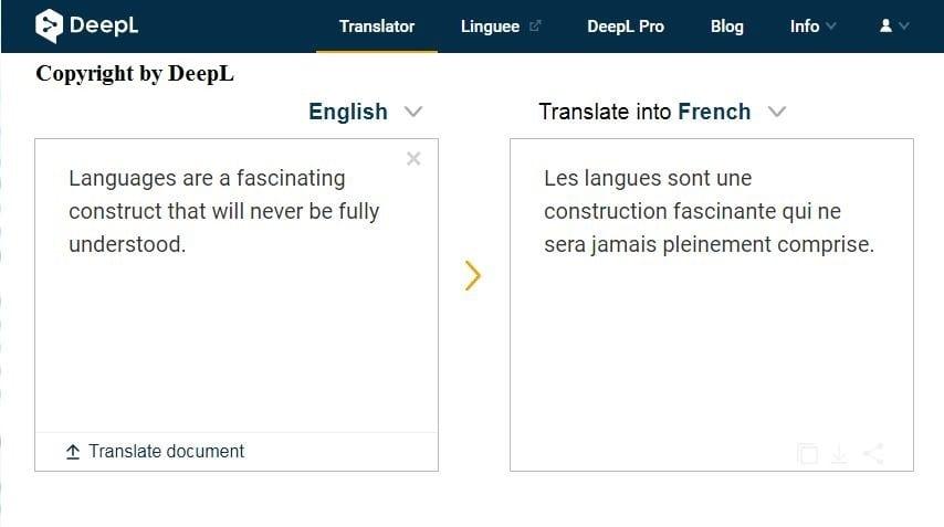 DeepL Translator – The New Wondrous Translating Machine