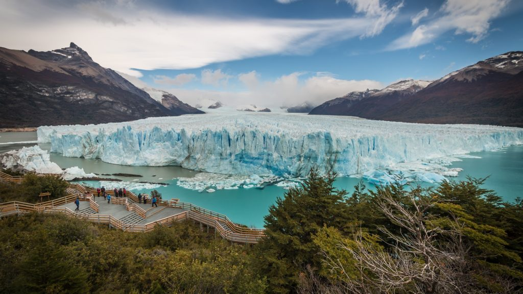 Perito Moreno Glacier in South America