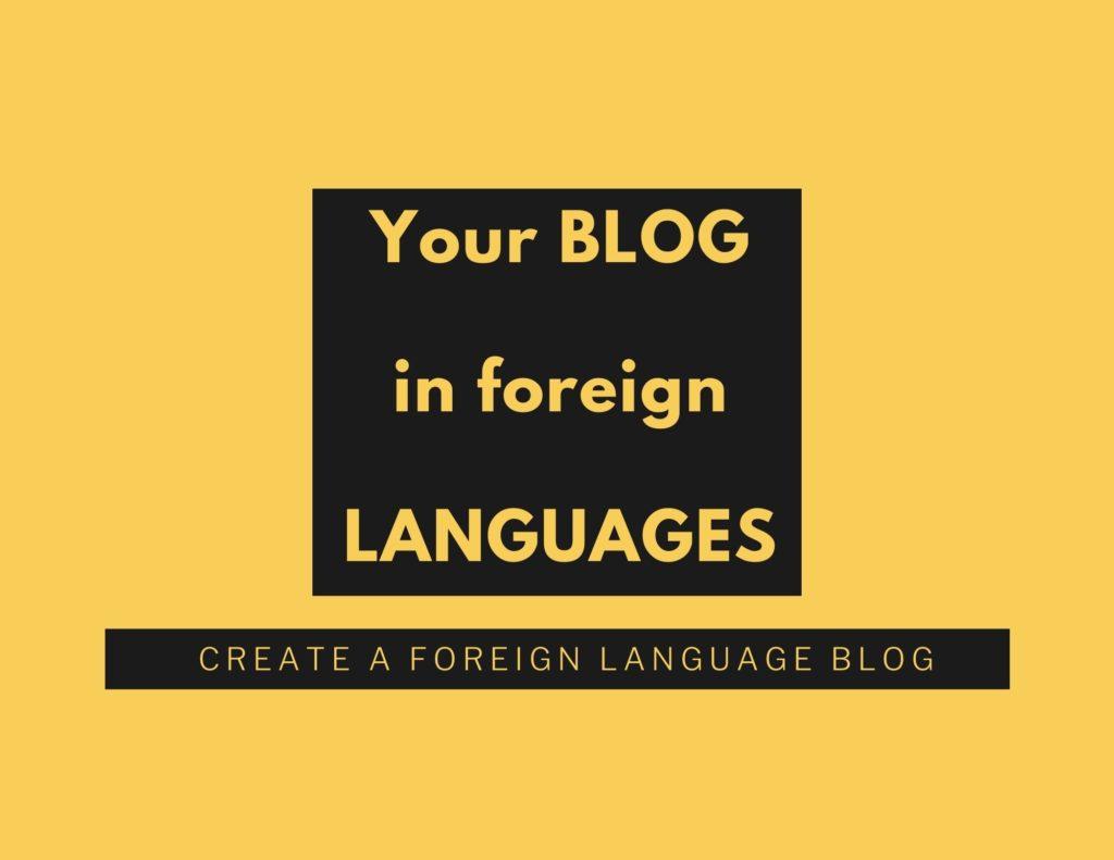 foreign language blog post