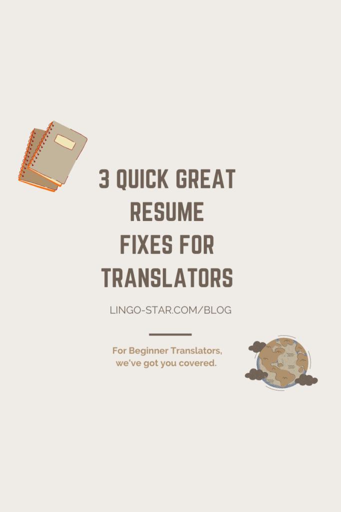 RESUME freelance TRANSLATORS