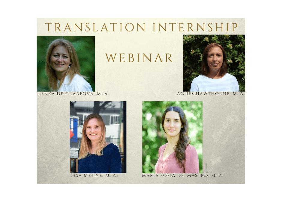 Translation Internship Broadcast / Webinar – Recording Available